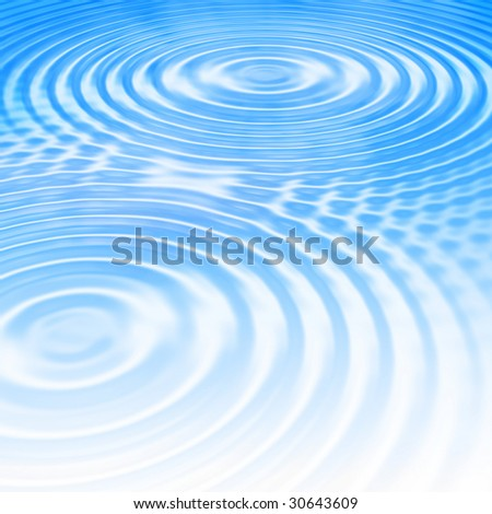 Blue summer water ripples