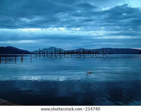 blue sunset - stock photo