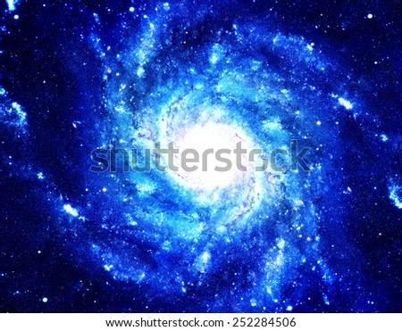 Blue Supernova - Elements of this Image Furnished by NASA - stock photo