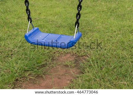 blue Swings in the park