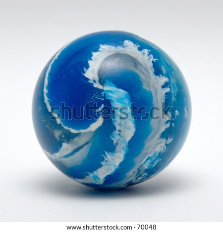Blue Swirl Bouncy Ball - stock photo