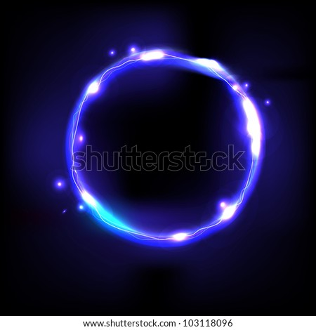 Blue Swirl, Isolated On Black Background