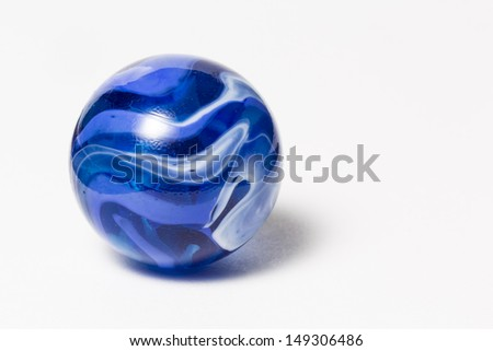 Blue Swirl Marble - stock photo
