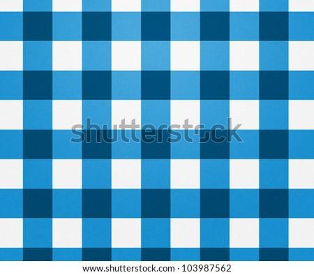 Blue Tablecloth Texture - stock photo