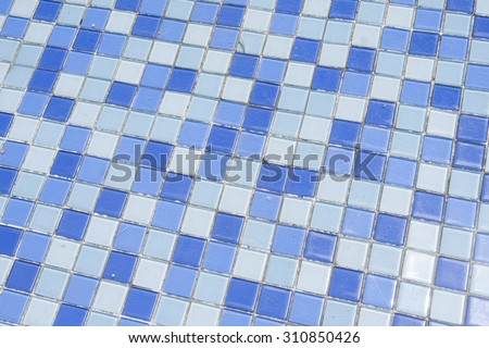 blue tile wall high resolution