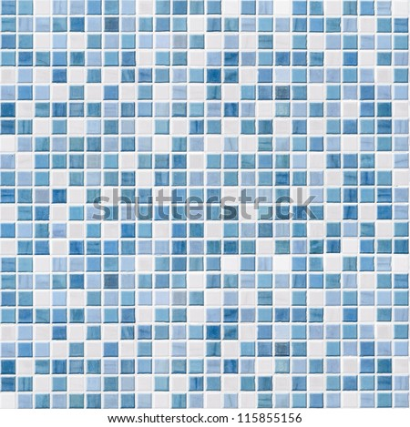 blue tile wall high resolution real photo - stock photo