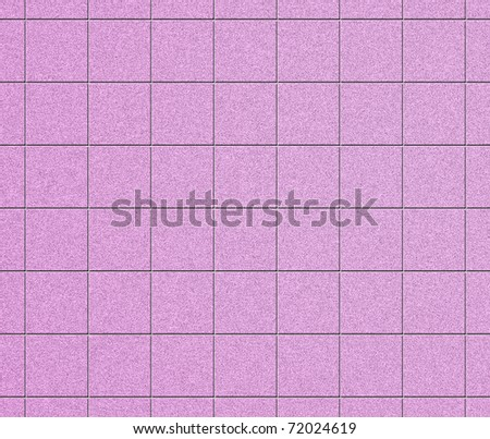 Blue tiled wall - stock photo