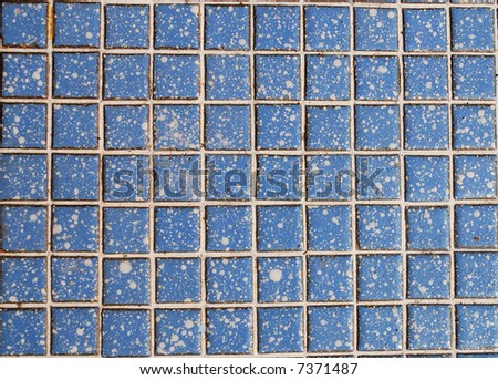 Blue tiled wall of marble as background abstract texture - stock photo