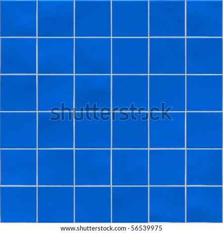 Blue tiles texture background, kitchen, bathroom or pool concept - stock photo