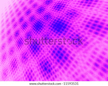 Blue to Hot Pink on White Moire 3D Landscape - stock photo