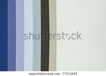 Blue tone color palette samples of fabric