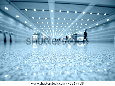 blue tone of business center. Macro with extremely shallow depth of field - stock photo