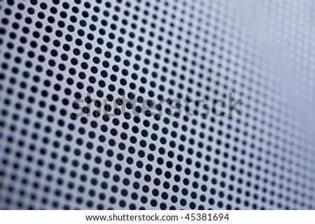 Blue-toned Metallic Mesh Background - stock photo