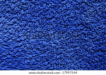 Blue towel texture - stock photo