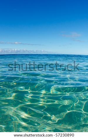 Blue Tropical Ocean - stock photo
