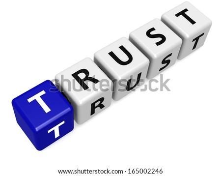 Blue trust - stock photo