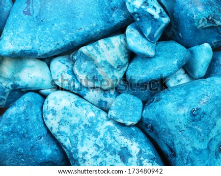 Blue Turquoise gemstones background - stock photo