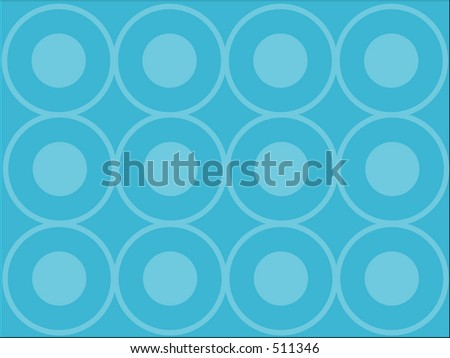 Blue vector background with circles - stock photo