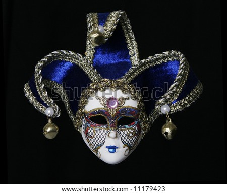 Blue Venetian Mask, A Centuries-Old Tradition Of Venice, Italy