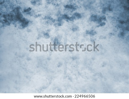 Blue vintage abstract nature sky with clouds background - stock photo