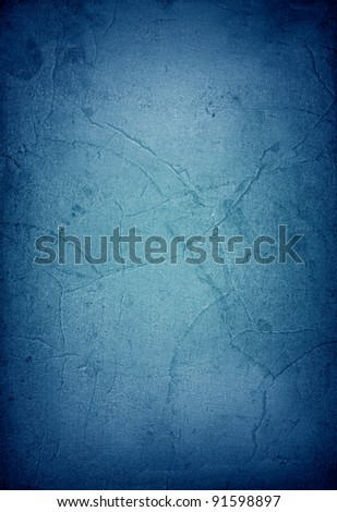Blue vintage paper texture or background - stock photo