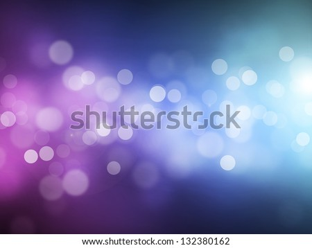 Blue violet bokeh abstract light background - stock photo