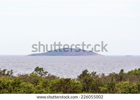Blue virgin an island in the Baltic Sea - stock photo