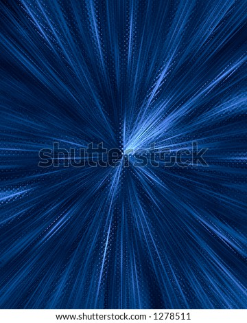 Blue Vortex - stock photo