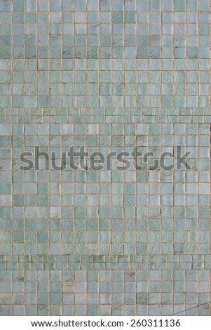 blue wall tiles - stock photo