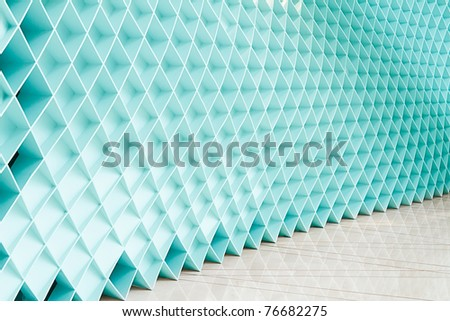 Blue walls, a new design - stock photo