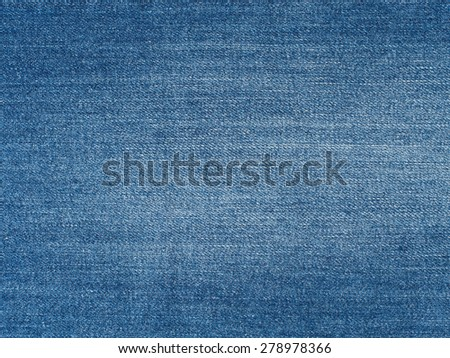 Blue washed denim jeans fabric texture, textile background - stock photo