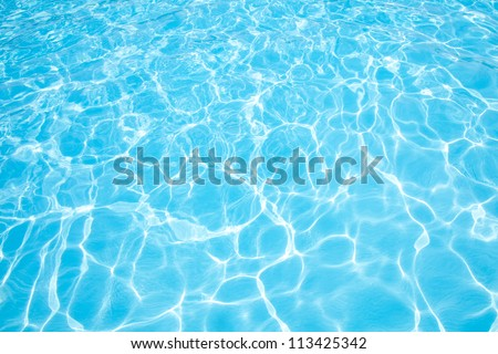 Blue water, abstract natural background - stock photo