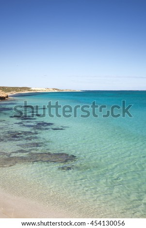 Blue water at Coral Bay, Western Australia