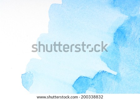 Blue water color background - stock photo