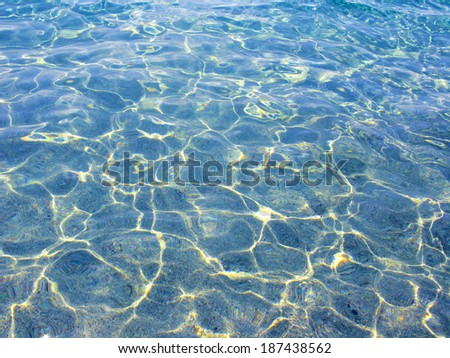 Blue water in Costa Brava (Spain) - stock photo