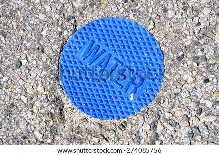 blue water main - stock photo