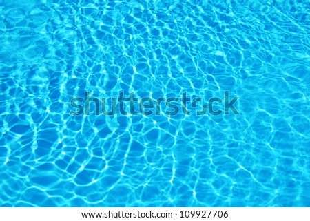 Blue water ripple background - stock photo