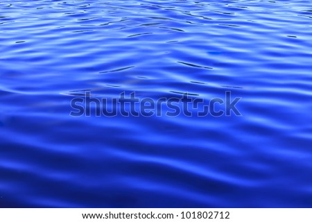 blue water ripple pattern - stock photo