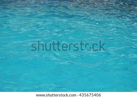 Blue water ripple surface - stock photo