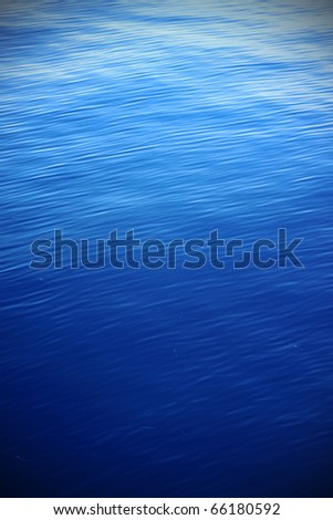 Blue Water Rippter Texture with Vignette - stock photo