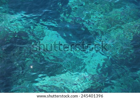 Blue Water Waves Texture on the Atlantic Ocean - stock photo