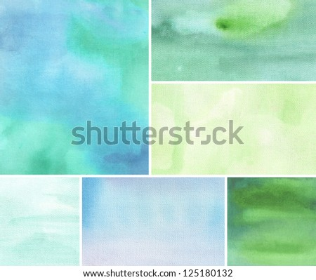 blue watercolor background abstraction - stock photo