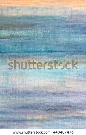 Blue Watercolor on Canvas 10 - stock photo