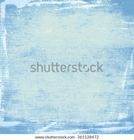 blue watercolor painted wall paper texture grunge background - stock photo