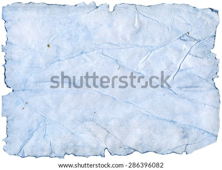 Blue watercolor torn paper edges sheet texture - stock photo