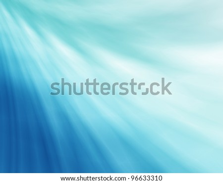 Blue wave cell background - stock photo
