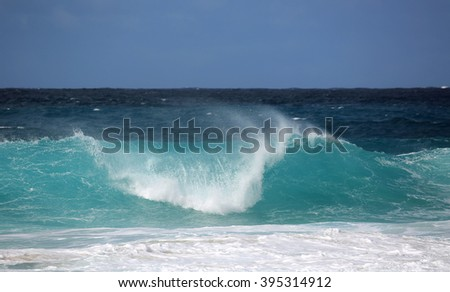 Blue wave - North Shore,  Oahu, Hawaii