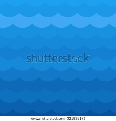 Blue wave pattern - stock photo