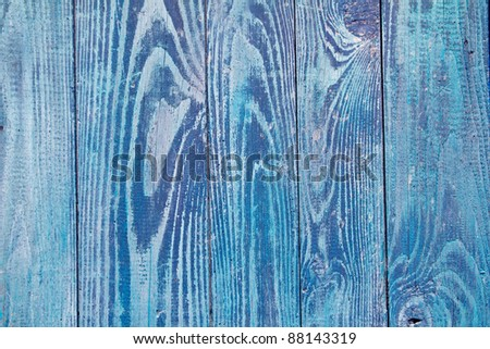 blue weathered wood door texture good as grunge background - stock photo