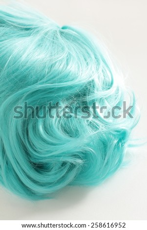 blue wig for cosplay fashion image